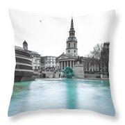Trafalgar Square Fountain London 3 Throw Pillow