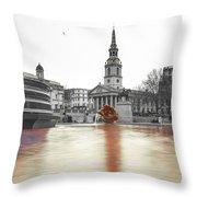 Trafalgar Square Fountain London 3b Throw Pillow