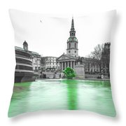 Trafalgar Square Fountain London 3f Throw Pillow