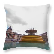 Trafalgar Square Fountain London 9 Throw Pillow