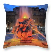 Trafalgar Square Fountain Throw Pillow