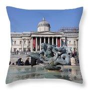 Trafalgar Square London Throw Pillow