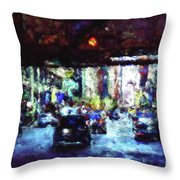 Traffic In The City Throw Pillow