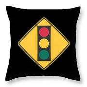 Traffic Light T-shirt Throw Pillow