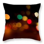 Traffic Lights Number 11 Throw Pillow