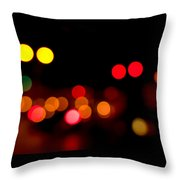 Traffic Lights Number 12 Throw Pillow