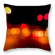 Traffic Lights Number 5 Throw Pillow