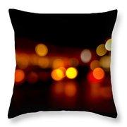 Traffic Lights Number 9 Throw Pillow