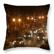 Traffic Malecon Pv Throw Pillow