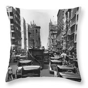 Traffic On Fifth Avenue Throw Pillow