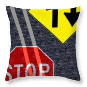 Traffic Signs Throw Pillow