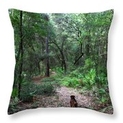 Trail Angel Throw Pillow