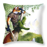 Trail Blazing Fox Throw Pillow