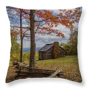 Trail Cabin Throw Pillow