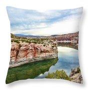 Trail Creek Canyon Throw Pillow