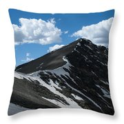 Trail From Grays To Torreys Throw Pillow
