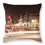 trail lines over the Liffey Throw Pillow