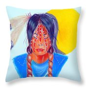 Trail Of Tears Throw Pillow