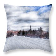 Trail One In Old Forge 2 Throw Pillow