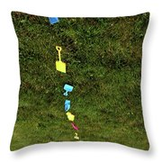 Trail To The Sand Throw Pillow