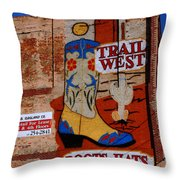 Trail West Mural Throw Pillow