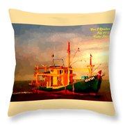 Trailer Ship H A Throw Pillow