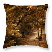 Trailing Autumn Throw Pillow