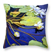 Trailing Beauty Throw Pillow