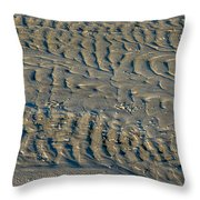 Trails In The Sand Throw Pillow