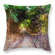 Trails Of Tracks Throw Pillow