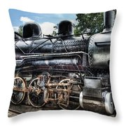 Train - Engine - 385 - Baldwin 2-8-0 Consolidation Locomotive Throw Pillow