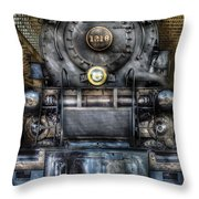 Train - Engine -1218 - Norfolk Western Class A - 1218 - Front View Throw Pillow