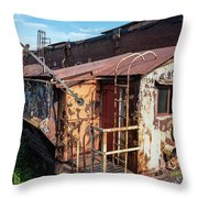 Train 6 In Color Throw Pillow