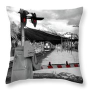 Train A Comin Throw Pillow