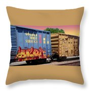 Train Aglow Throw Pillow