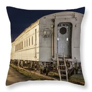 Train Car And Tracks Throw Pillow