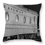 Train Car, Black And White Throw Pillow
