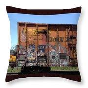 Train Car Graffiti 1 Throw Pillow