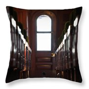 Train Car Interior Throw Pillow