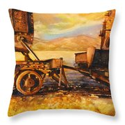 Train Cemetary- Salar De Uyuni, Bolivia Throw Pillow