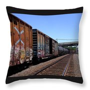 Train Colors 1 Throw Pillow