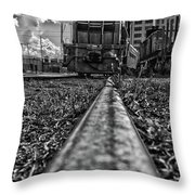 Train Coming Throw Pillow