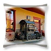 Train Depot Throw Pillow