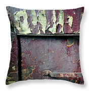 Train Door Throw Pillow