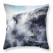 Train Engine 463 Throw Pillow