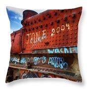 Train Graveyard Uyuni Bolivia 17 Throw Pillow