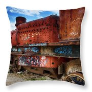Train Graveyard Uyuni Bolivia 18 Throw Pillow