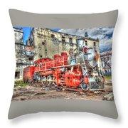 Train In Havana Throw Pillow