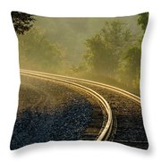 Train Lines Throw Pillow
