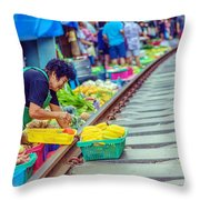 Train Market 2323 Throw Pillow